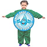 Unisex Save Water Costume (Age Group 10-12 Years) For Fancy Dress School Competition | B'day Gift | Environment Theme | Global Warming Theme | Environment Day Costume | Nature | Save Water | Conserve Water | Pollution