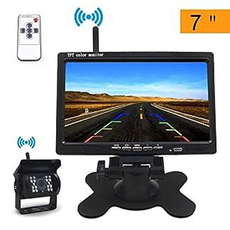 Rckfahrkamera-und-Monitor-Set-TOSAN-Wireless-Einparkhilfe-mit-7-Zoll18cm-LCD-Farbdisplay-Rear-View-Monitor-und-wasserdichte-Kamera-fr-Auto-Bus-Schulbus-Anhnger