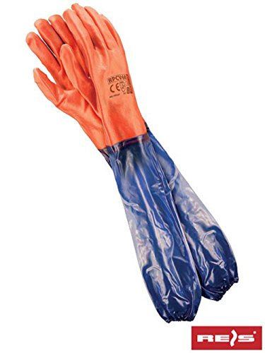 Reis Schulterlang PVC Handschuhe 60 cm Arbeitshandschuhe Gummihandschuhe (RPCV60)