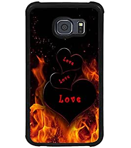 PRINTVISA Love Fire Case Cover for Samsung Galaxy S6