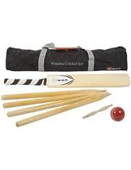 Cricket set, Komplett, Kricket Hartholz set, SENIOR Größe SH, in sehr gute Tasche