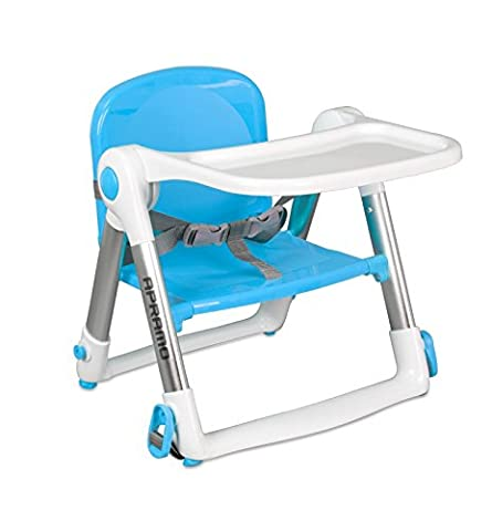 Apramo FLIPPA Universal Childs Dining Booster Seat - Upto 3yrs or 15kg - Includes 2 Animal Safety Door Stoppers -