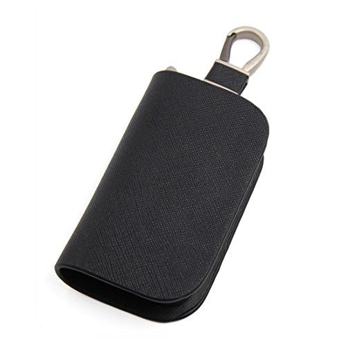 sourcingmap® schwarz Kunstleder Multifunktion Auto Schlüssel Halter Mann hängende Tasche (Tasche Universal-schlüsselanhänger)