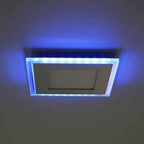 Amzdeal 10W LED Panel Deckenleuchte, 130mm×130mm, neutralweiß+blau