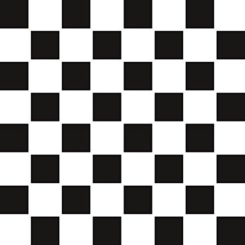 PrintYourHome Fliesenaufkleber für Küche und Bad | Mosaik Schachbrett matt | Fliesenfolie für 15x20cm Fliesen | 24 Stück | Klebefliesen günstig in 1A Qualität