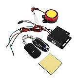 Sistema di allarme di sicurezza antifurto, allarme di sicurezza, con telecomando, sirena di allarme, 12 V, per moto e bicicletta