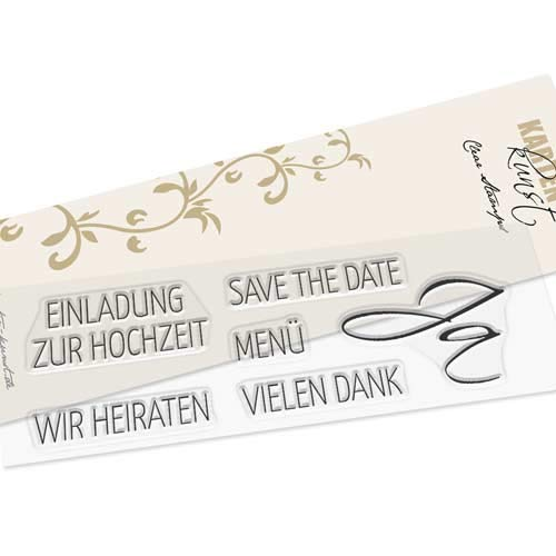 """Clear Stamp-Set Stempel-Gummi Einladung - Karten-Kunst """"Hochzeit"""""""