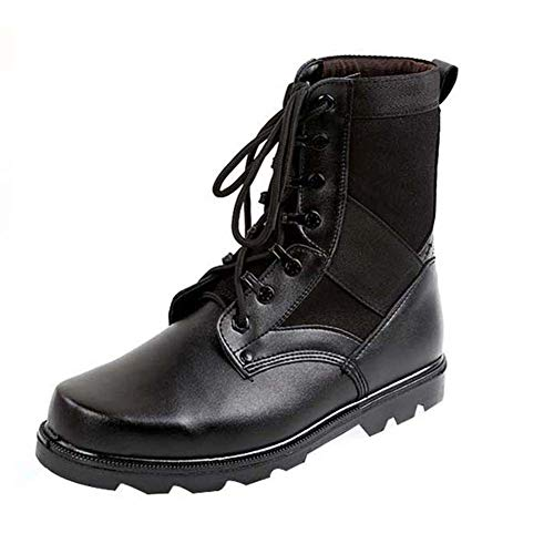 Yudesun Unisex Erwachsene Arbeitsstiefel Schwarz - Militär Einsatz Schuhe Herren Damen Größe Desert Combat Boots Arbeits Berufsschuhe Gebrauchsschuhe Taktisch