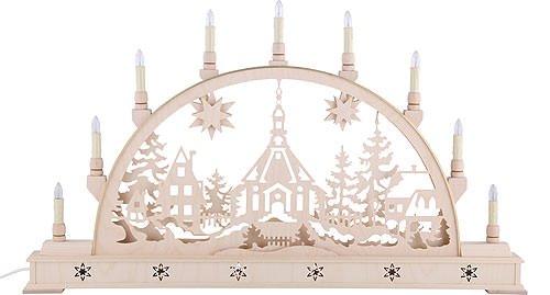 Candle Arch - Iglesia Seiffen con la base - los 78cm x 45 cm / 31 x 18 pulgadas - Seidel