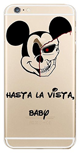 Blitz® SKETCH HANDY Schutz Hülle Transparent TPU Cartoon Comic Case iPhone Hotline Bling iPhone 6 6s Micky Terminator