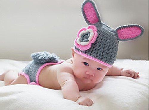 Cute Baby Newborn Infant handgefertigt Crochet Beanie Hat Petit Lapin Diesel Style Baby Kleidung fotografiert Zubehör, Cartoon Fashion Kinder Fotografie Requisiten Foto Requisiten Kostüm Kleidung tragen, tragen (geeignet für Babys 0–6Monate bis)