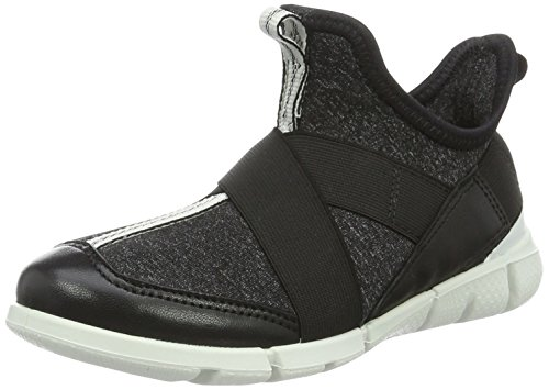 Ecco Unisex-Kinder Intrinsic Sneaker Low-Top Schwarz (54610BLACK/BLACK-WHITE)