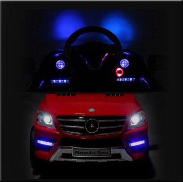 RC Auto kaufen Kinderauto Bild 4: Original Mercedes-Benz ML 4x4 4MATIC 350 SUV Lizenz Kinderauto Kinderfahrzeug (ROT)*