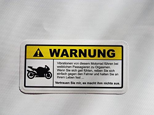 Warning Warnung Vibration Motorrad -DUB TUNING Aufkleber OEM STICKERBOMB KULT Bike Biker (Variante 1)
