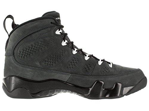 Nike Herren Air Jordan 9 Retro Turnschuhe Weiß / Schwarz (Anthrazit / Weiß-Schwarz)