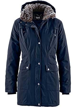 bpc bonprix collection Women's Parka Coat blue dark blue -  blue - UK 8