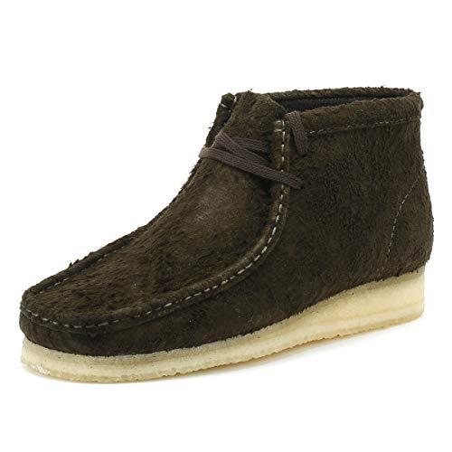 Clarks Originals Mens Wallabee Boot (Clarks Originals Wallabee Herren Dark Grün Stiefel-UK 6)