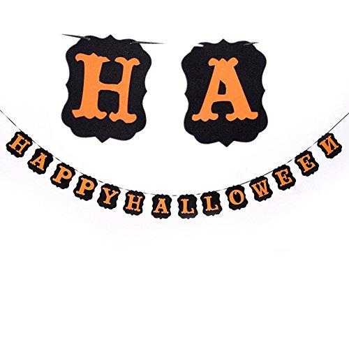 Jingyuu Wimpelkette Triangle Banner Dekoration für Halloween
