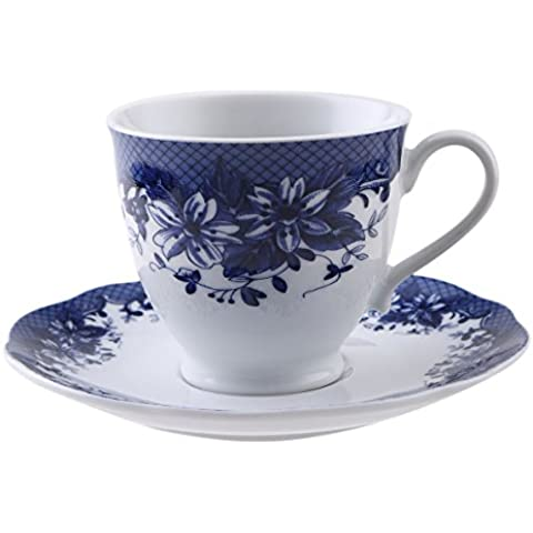 Brunchfield Skye - Set 4 piezas para té en en porcelana, 200 ml