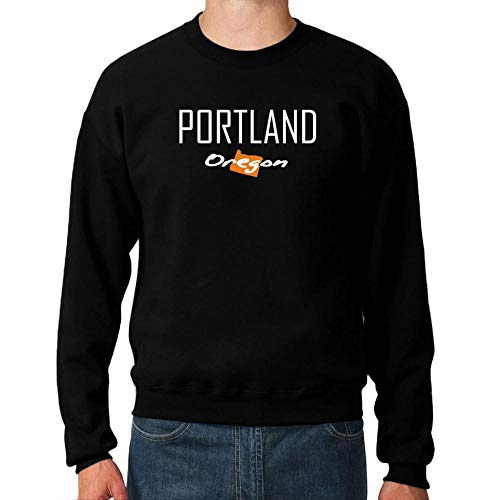 Idakoos Portland State Map Sweatshirt M