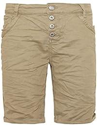Urban Surface Damen Bermuda Shorts | Bequeme kurze Stoffhose aus Stretch-Twill - Loose Fit