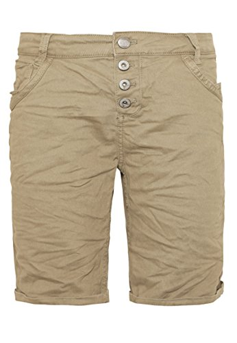 Urban Surface Damen Bermuda Shorts | Bequeme kurze Stoffhose aus Stretch-Twill - Loose Fit beige L