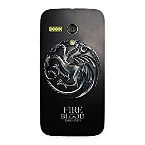 Blood Fire Emb Back Case Cover for Moto G