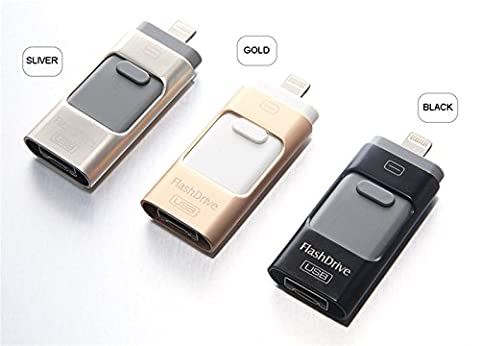 i-Flash Clé HD U-Disk Interface Micro USB 3 en 1 pour Android/iOS/PC 32 Go