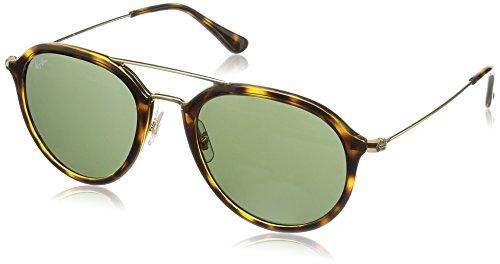 Rayban Unisex Sonnenbrille RB4253 Mehrfarbig (Gestell: Havana,Gläser: grün 710)), Medium (Herstellergröße: 53)