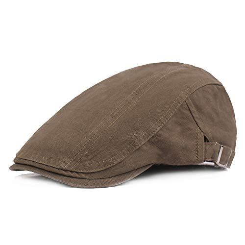 KINDOYO Baumwolle Beret Cap - Größe Verstellbare Reise Retro Hut für Männer und Frauen, Militär grün