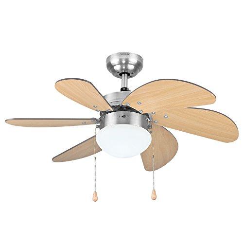 Cecotec Ventilador de Techo ForceSilence Aero 350. 81 cm de Diámetro, Luz,...