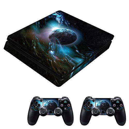 Price comparison product image WELLDRESSED Game Stickers Set Controller Host Handle Sticker Cover Skin Accessory for Sony PlayStation PS4 Play Station PS 4 Slim, Style B