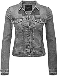ONLY Damen Jeansjacke Übergangsjacke Leichte Jacke Denim Casual GE LESTA 83f0e27db9