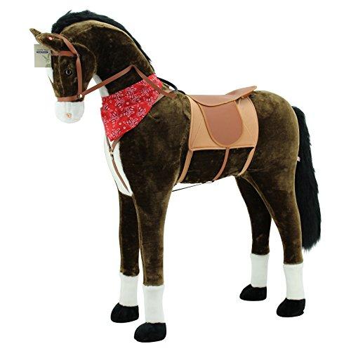 Sweety Toys 11525 GIANT XXL Riesen Pferd Plüschpferd Chocolate Stehpferd - 4
