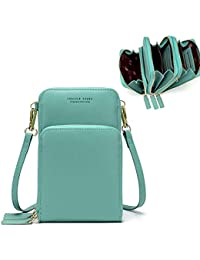 Small Crossbody Phone Bags for Women, Multi Pocket Shoulder Cell Phone Purse Wallet for Travel…