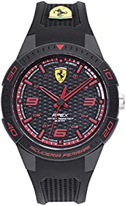 Scuderia Ferrari Men's Black Dial Black Silicone Watch - 87