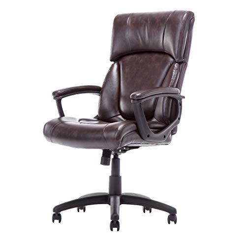 OUG Back Office Chair, dreidimensionales 3D-Kissen, Armlehne mit rundem Rahmen, Kissen mit Anti-Slope-Design, sicheres, verdicktes, explosionssicheres Tablett, geeignet für Büroangestellte (braun) (Gesunde Back-office-stuhl)