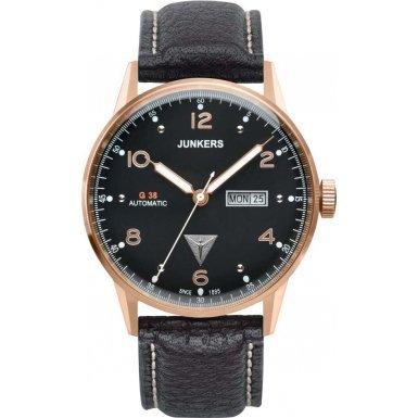 Junkers Herren-Armbanduhr Analog Automatik Leder 69685