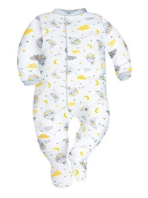 SIBINULO Niño Niña Pijama Bebé Pelele de Algodón Pack de 3