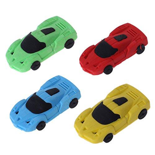 Meiqqm 1 x niedliches Auto-Radiergummi für Kinder, Geschenk, Schreibwaren, Schulbedarf