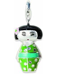 Alraune Unisex-Anhänger Geisha Kimono Silber 102411