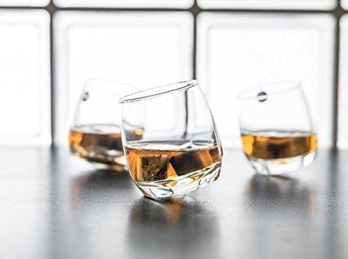 Gravidus 6 x Bar Rocking Whisky Glas - runder Boden 200 ml Bar Gläser