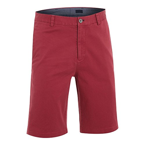 Ashworth 2015 Premium Cotton Stretch Twill Flat Front Mens Funky Golf Shorts Sangria 30