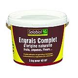 Solabiol SOCOMP5 Engrais Complet - Fruits, Légumes, Fleurs | Seau 5 Kg Utilisable en Agriculture Biologique