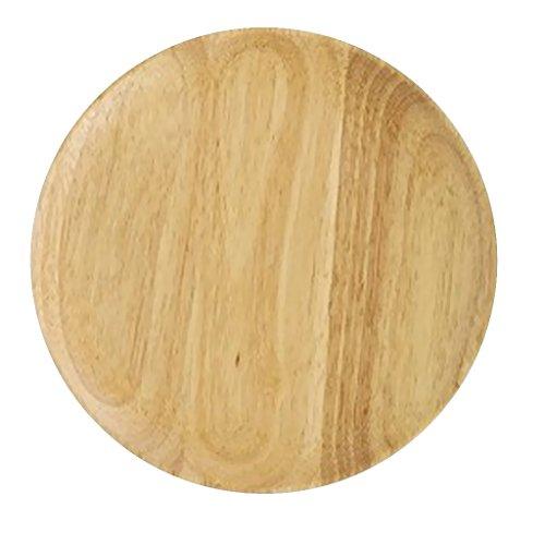 MagiDeal Holzteller Rund Rustikal Ø 15 18 20 24 27 cm - aus Eichenholz - Holzfarbe, 15x2cm
