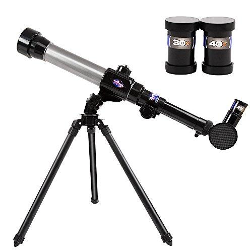 Teleskop für Kinder, EgoEra® 20X-30X-40X Astronomie Fernrohr Teleskop für Kinder Anfänger / Kinderteleskop Set mit Stativ Okulare Pädagogische Wissenschaft Spielzeug Kit