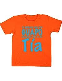 HippoWarehouse Si Piensas que soy guapo Deberías ver a mi Tía camiseta manga corta niños niñas