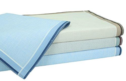Betz Lot de 4 mouchoirs en tissu pour homme dans un emballage cadeau, 100% coton Dessin 2