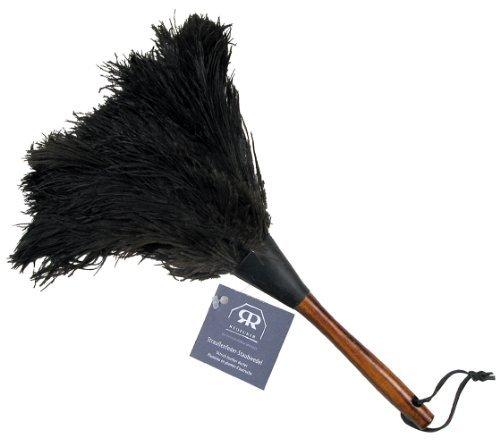 Redecker Staubwedel mit Straußenfedern, Buchenholzgriff, 35 cm