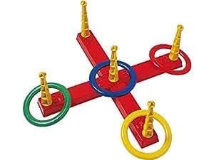 Androni 7408799 - Ringwurfspiel mit 5 Ringen, circa 40 cm